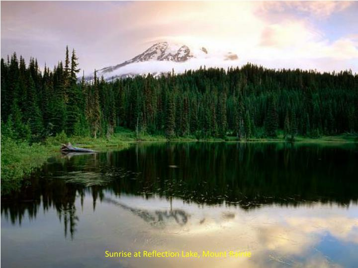 Sunrise at Reflection Lake, Mount