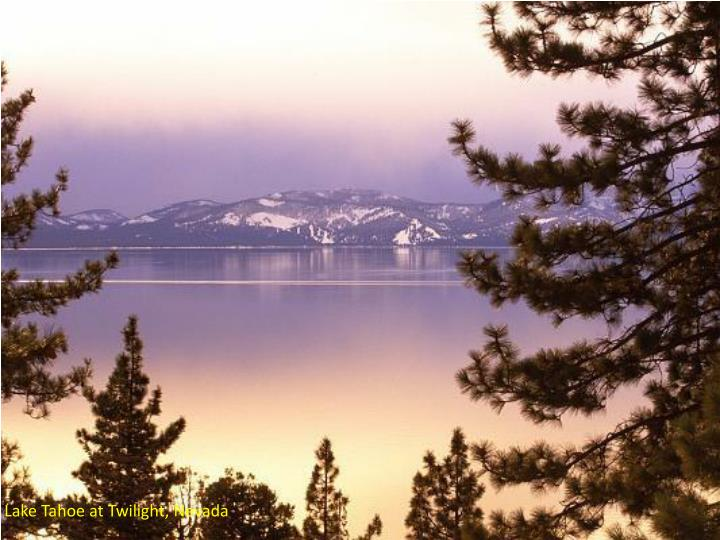 Lake Tahoe at Twilight, Nevada