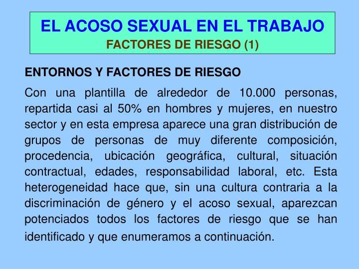 ENTORNOS Y FACTORES DE RIESGO