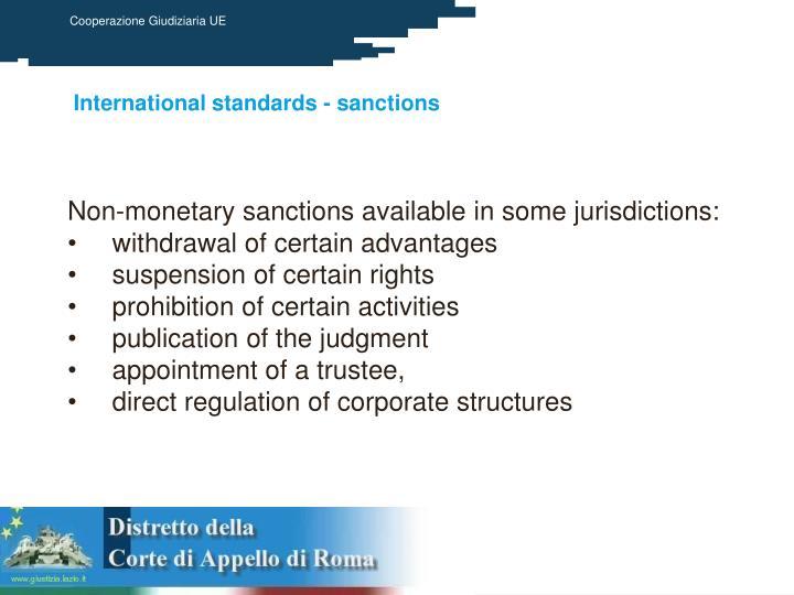 International standards - sanctions