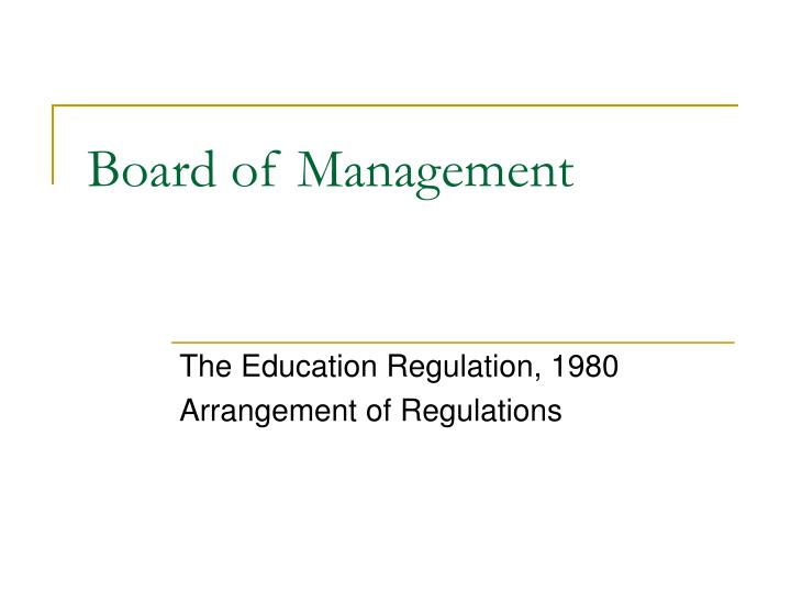 board of management n.