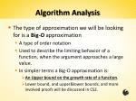 algorithm analysis2