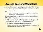 average case and worst case2