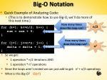big o notation