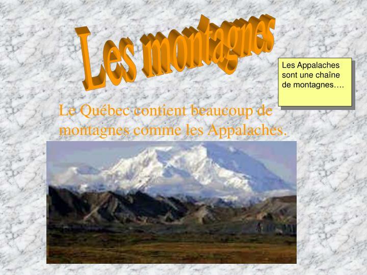 Les montagnes