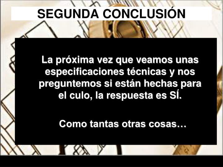 SEGUNDA CONCLUSIÓN