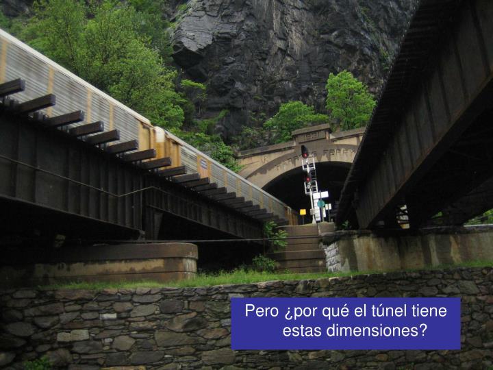 Pero ¿por qué el túnel tiene estas dimensiones?