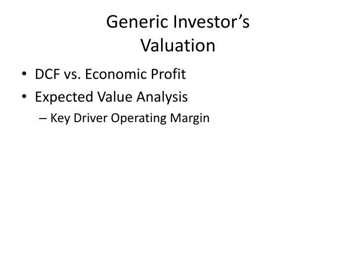 Generic Investor's