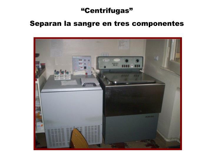 """""""Centrifugas"""""""