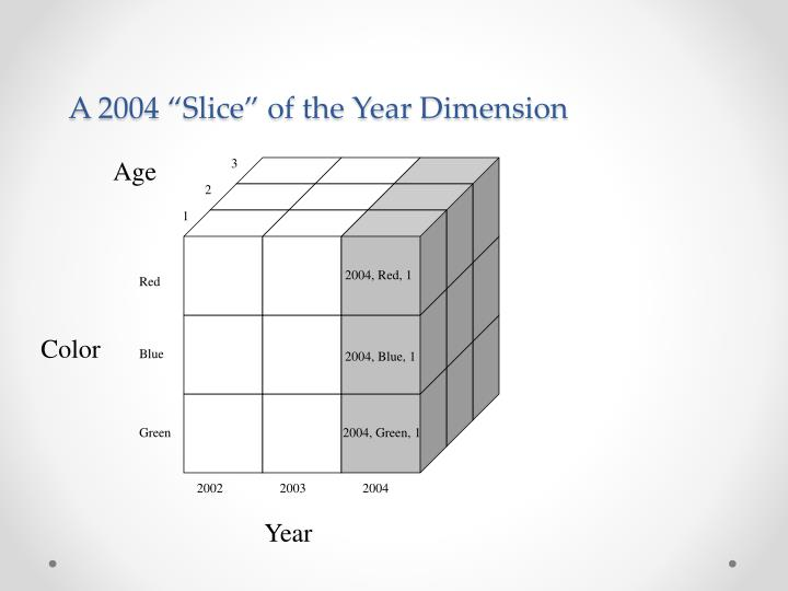 """A 2004 """"Slice"""" of the Year Dimension"""