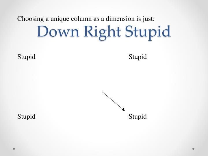 Down Right Stupid