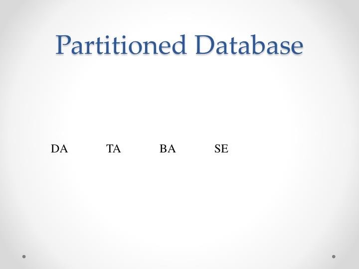Partitioned Database