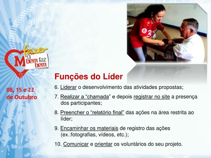 Funções do Líder
