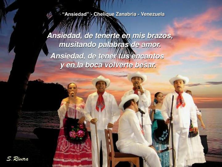 """""""Ansiedad"""" - Chelique Zanabria - Venezuela"""