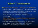 yahoo commentaires