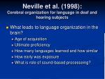 neville et al 1998 cerebral organization for language in deaf and hearing subjects