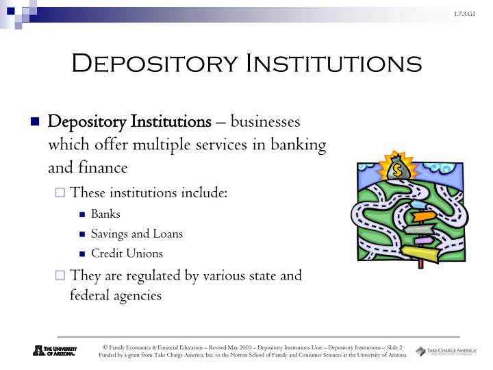 Depository institutions1