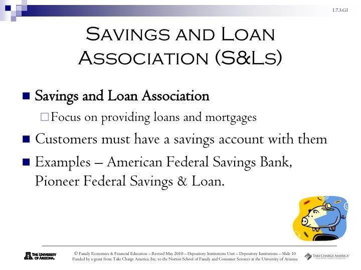 Savings and Loan Association (S&Ls)