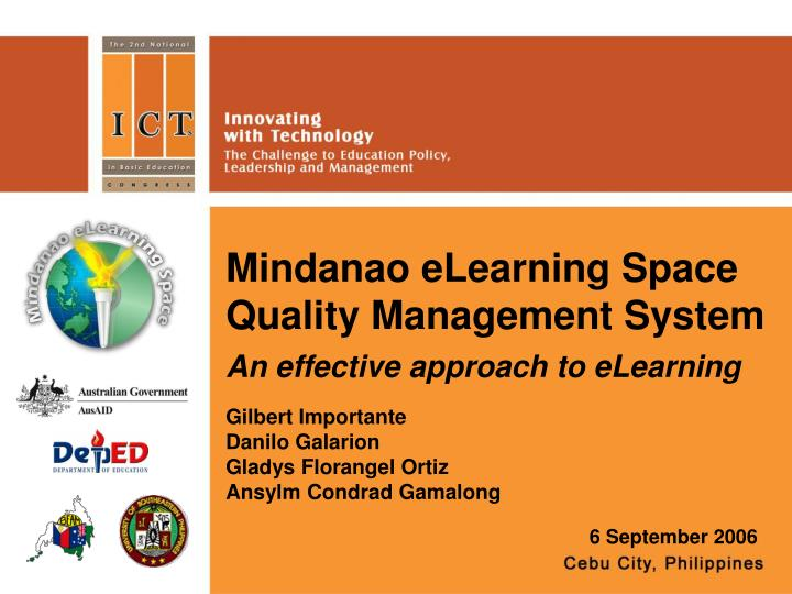 mindanao elearning space quality management system n.