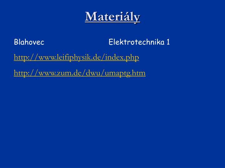 Materiály