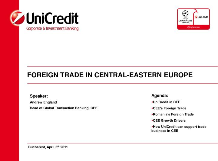 foreign trade in central eastern europe n.