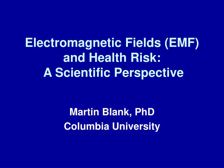 electromagnetic fields emf and health risk a scientific perspective n.