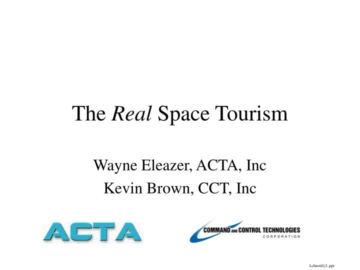 the real space tourism n.