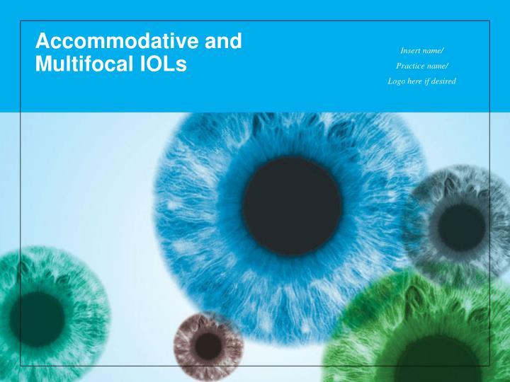 accommodative and multifocal iols n.