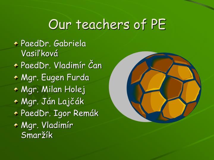 Our teachers of pe