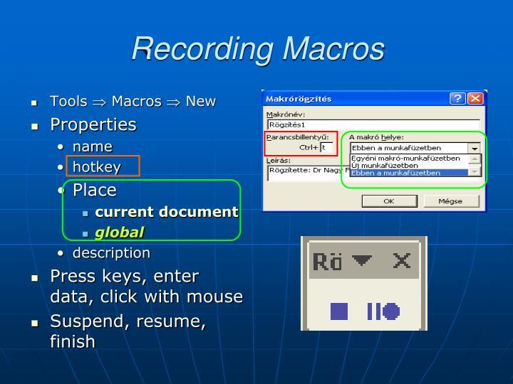 Recording Macros