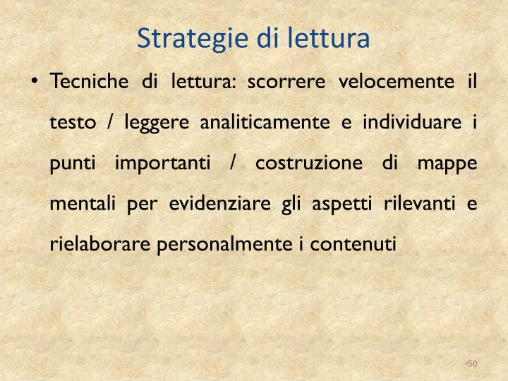 Strategie di lettura