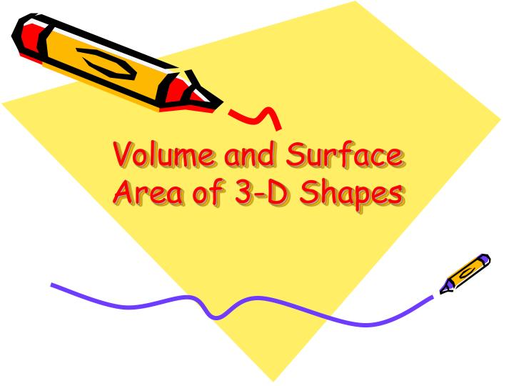 volume and surface area of 3 d shapes n.