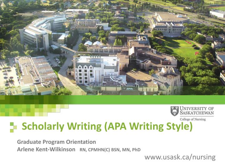 PPT Scholarly Writing APA Writing Style PowerPoint