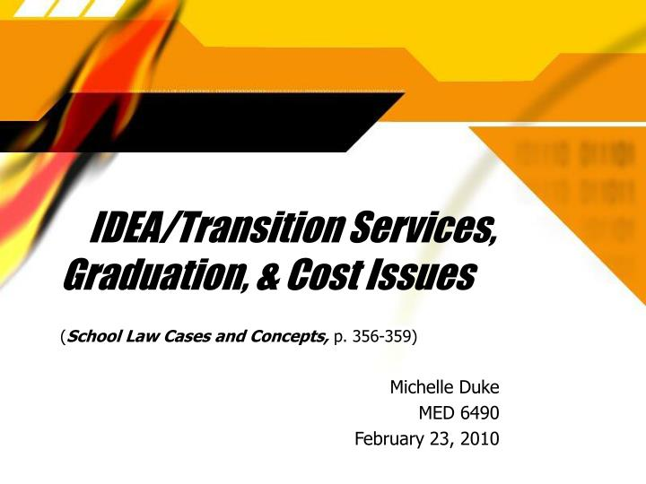 idea transition services graduation cost issues n.