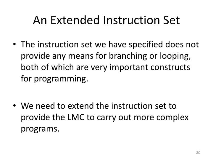 An Extended Instruction Set