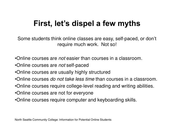 First let s dispel a few myths