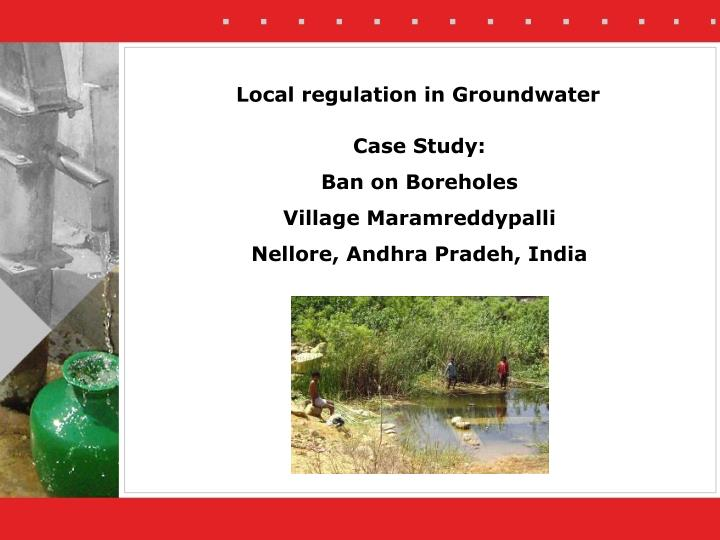 local regulation in groundwater n.