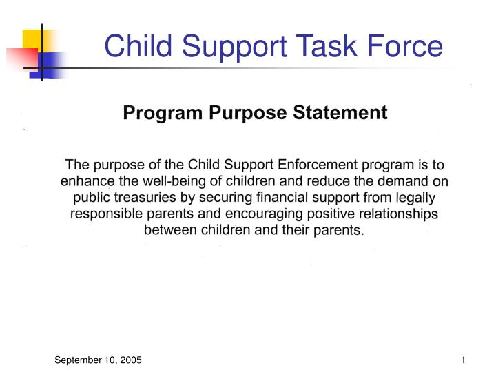 child support task force n.