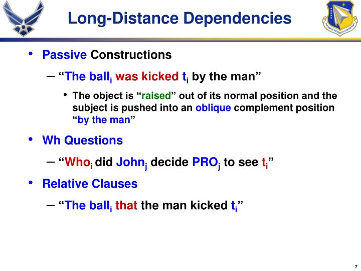 Long-Distance Dependencies