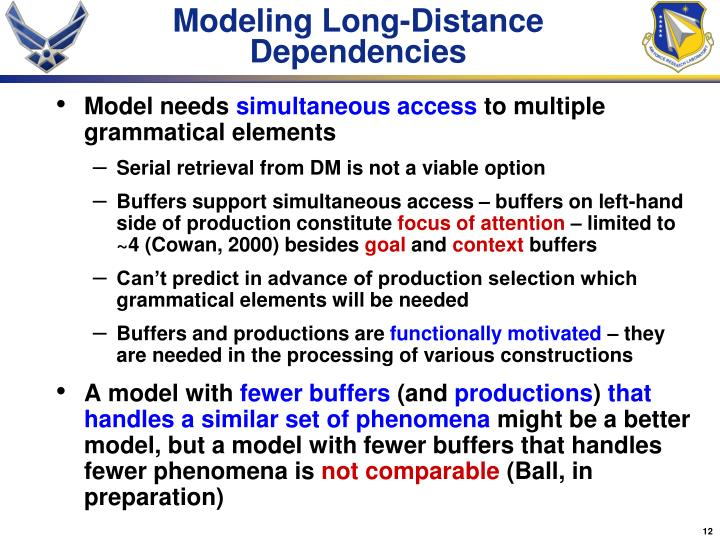 Modeling Long-Distance Dependencies