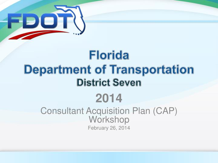florida department of transportation district seven n.