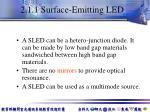 2 1 1 surface emitting led