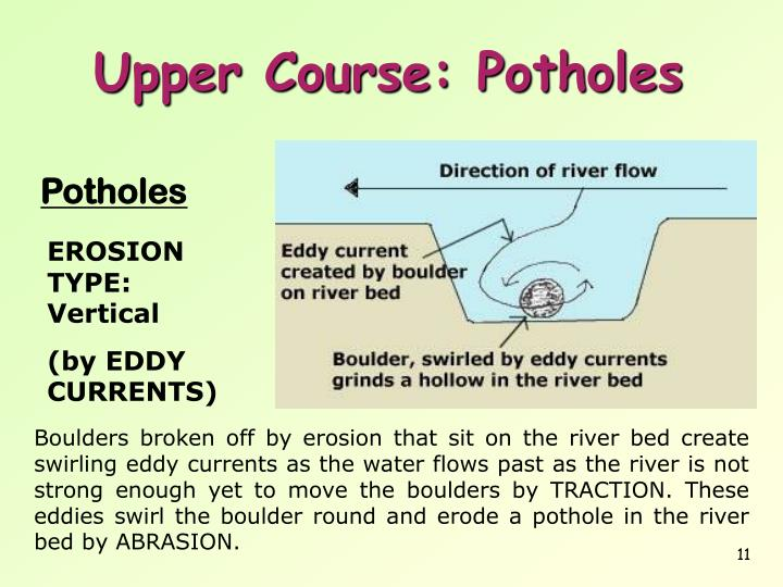 river processes There are two types of question you might be asked about river processes one is to explain the processes of the river the other is to describe how the processes make landforms.