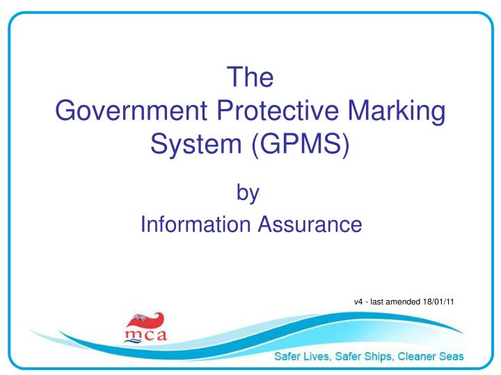 the government protective marking system gpms n.