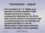 conclusions sequel