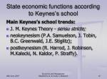 state economic functions according to keynes s school