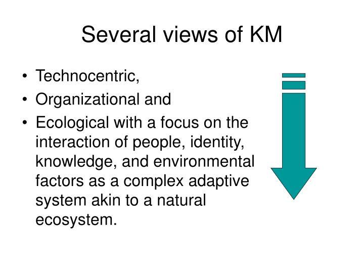 Several views of KM