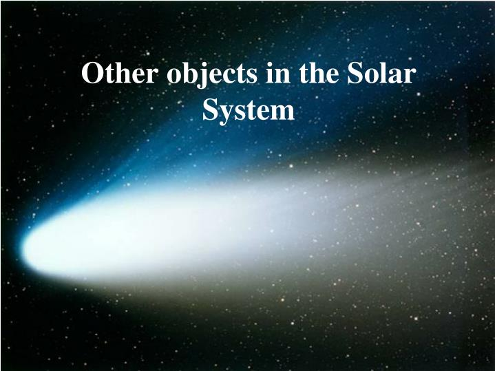 other objects in the solar system n.