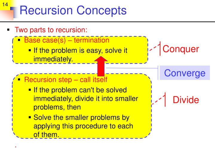 Recursion Concepts