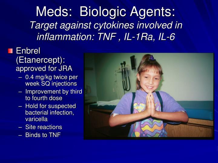 Meds:  Biologic Agents: